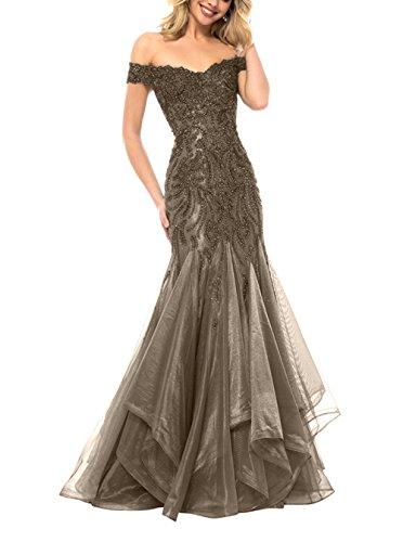 Meerjungfrau Langes Ballkleider Abschlussballkleider Abendkleider Braun Etuikleider La Kleider Brau Partykleider mia Trumpet xwOqw4A