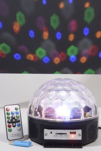 19cm Lumineo Indoor LED Disco Ball With Multicolour Lights & Remote ...