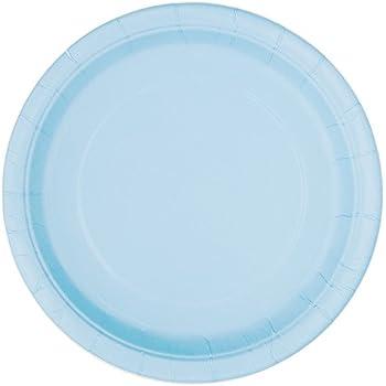 Light Blue Paper Plates 16ct  sc 1 st  Amazon.com & Amazon.com: Party Color Paper Plates Light Blue 9\
