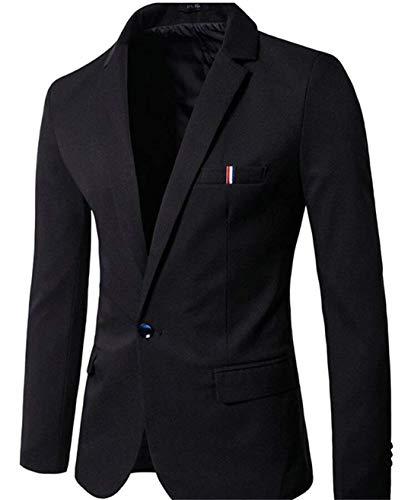 Un Di Casual Bottone Uomo Giacche Mode Libero Fit Blazer Per Eleganti Bolawoo Tempo Slim Il Marca Business Schwarz Da dBoeWEQrCx