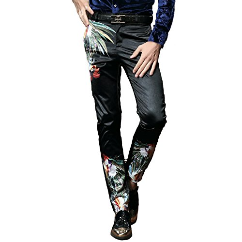 FANZHUAN Pants Mens Small Mens Trousers Casual Mens Skinny Trousers Slim Mens Pants Multicoloured 32W x 29L Multicoloured 32W/29L