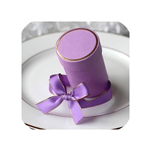 Creative Cylinder Candy Boxes Wedding Party Favors and Gift Box Paper Boxes for Packaging Gift Bags for Wedding Decoration,Plum,10 Pcs]()