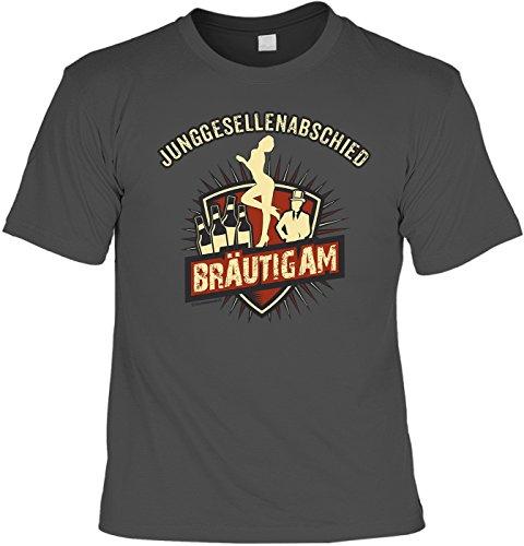T-Shirt - Junggesellenabschied - Bräutigam grau - lustiges Sprüche Shirt als Geschenk für den Junggesellenabschied