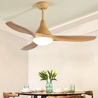 Silencioso ventilador de techo luz minimalista salón comedor dormitorio LED ventilador industrial luz 122 cm x 45 cm: Amazon.es: Iluminación
