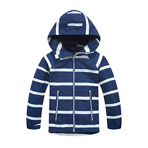(Girls Rain Jacket – Waterproof Jacket for Girls with Hood,Best for Rain School Day,Hiking and Camping (1305, 12))