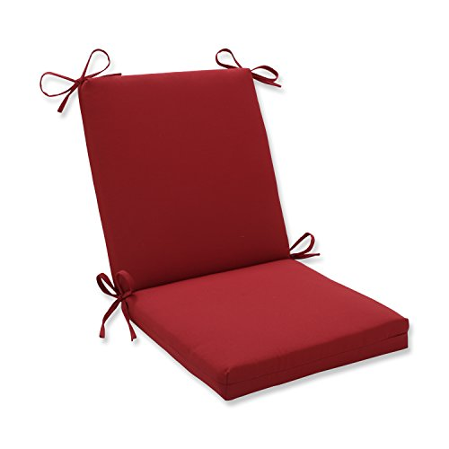 (Pillow Perfect Indoor/Outdoor Red Solid Chair Cushion Squared)
