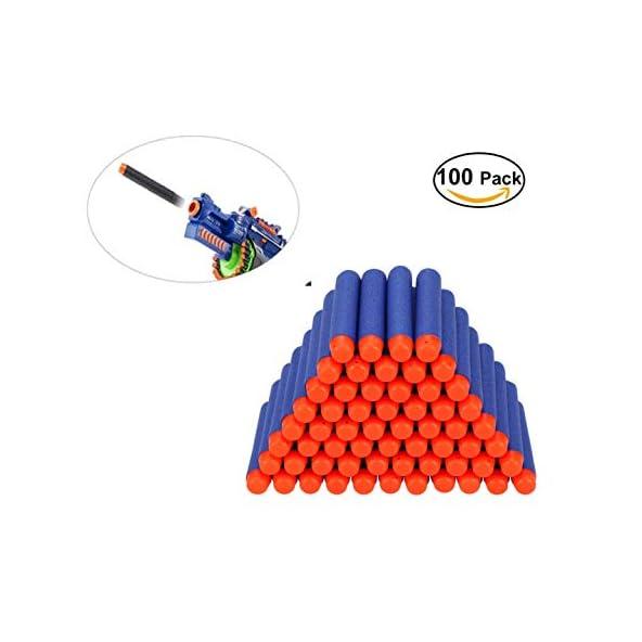 JERN Toy Bullet Foam Dart Bullets for Nerf N-Strike Elite Guns (Pack of 100)
