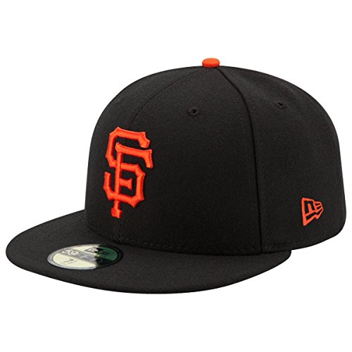 New Era 59FIFTY San Francisco Giants Black MLB 2017 Authentic Collection On Field Game Fitted Cap Size 7 1/8 - San Francisco Giants Fitted Game