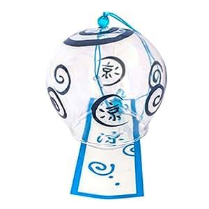 Japón Furin Wind Chimes campanas de viento hecho a mano regalo del día de cristal regalo de cumpleaños San Valentín Decoración. Oficina decoración (frío)