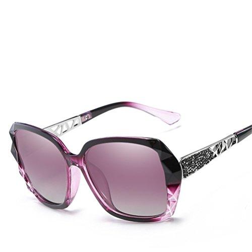 Cool Violet lunettes ovales Cadres de de UV Voyage Casual lunettes soleil soleil de été Gradient de de conduite Lunettes femmes Proof Des Lentille Rimmed Violet polarisées soleil qB7784w