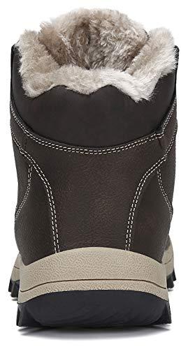 Mishansha Bottes Homme Chaude Hiver Chaussures Antidérapant Chaussures de Randonnée Imperméable 3