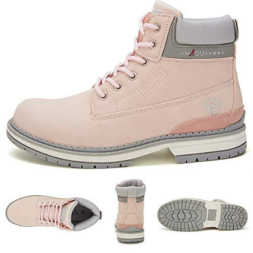 Femme Chaussure La Bottines Le Et Pink2 Ankle Boots Choix En L'usure Anjou Quotidienne Daim Lacets Cuir À Pour Cestfini Bottes Femmes Faux Randonnée Plates Femme Caoutchouc Pédestre 8PFdqwR