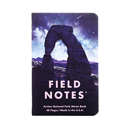 Field Notes: National Parks Series (Series D - Grand Teton, Arches, Sequoia) - Graph Paper Memo Book 3-Pack - 3.5 x 5.5 Inch