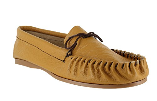 Moccasins Mens British Hand Made Casual Leather Moccs Slippers Brown orCRV