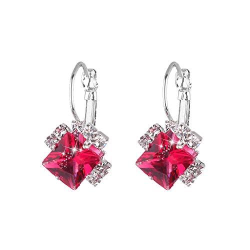 Gahrchian WomenTurquoise Gemstone Earrings Stud Jewelry Sterling Silver Eardrop Dangle Fashion Jewelry Gift - Dangler Gem