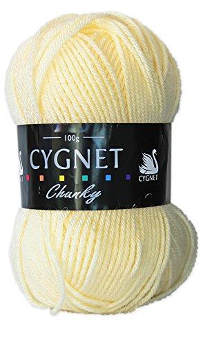Cygnet C1005/256 | Cream 100% Acrylic Chunky Yarn/Knitting Wool | 100g Cygnet Yarns