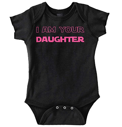 I Am Your Daughter Funny Nerdy Fathers Day Romper Bodysuit