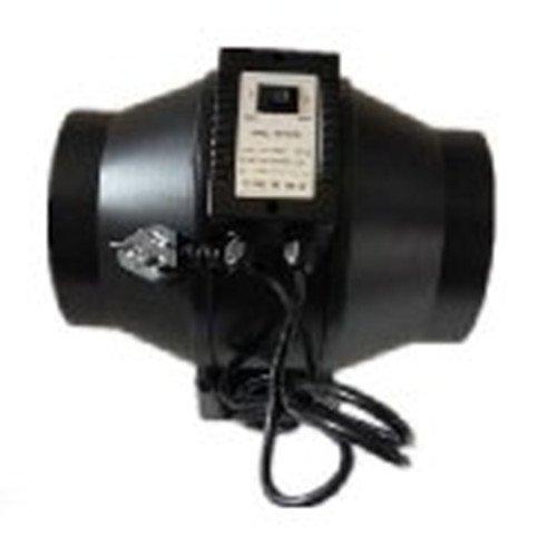 Hyindoor 6 Zoll Zwei Geschwindigkeitskontrolle Axial Flow aus Kunststoff Lüftungskanal Absaugventilatorgebläse Fan