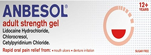 Anbesol Adult Strength Gel for Mouth Ulcers and Denture Irritation 10g (Best Numbing Cream For Tattoos Uk)