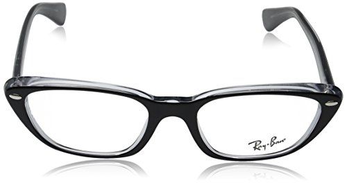b97cd871d21cc Amazon.com  Ray-Ban Women s RX5242 Eyeglasses Top Black On Transparent  53mm  Ray Ban  Clothing