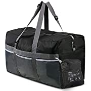 REDCAMP Foldable Travel Bag, 75L Large Sports Bag, Packable Duffle Bag, Lightweight Waterproof Duffel Holdall Bag for…