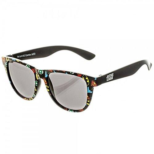 DC Comics Batman, Harley Quinn, Flash, Wonder Woman Logo Patterned Sunglasses w/ Case (All Over, - Women Dc For Sunglasses