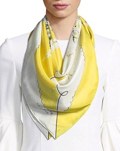 - Burberry Women Square Scarf bright yellow LONDON LANDSCAPE SILK SQUARE 40654341