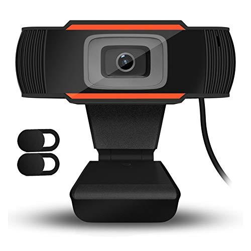 🥇 QueenDer Cámara Web HD con 2Pcs Webcam Cover y Micrófono
