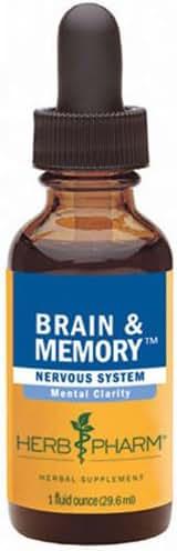 HERB PHARM Brain & Memory Tonic - 1 Oz, 3 pack