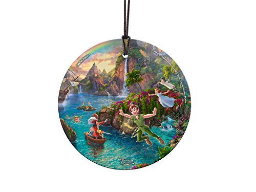 Trend Setters Disney Peter Pan's Neverland Starfire Prints Hanging Glass ()