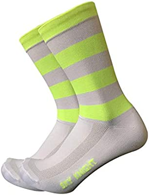 MUBFT Calcetines Hombre Rayas Fluorescentes Ciclismo Calcetines ...