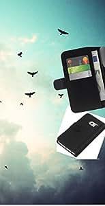 Protector de cuero de la PU de la cubierta del estilo de la carpeta del tirón BY RAYDREAMMM - Samsung Galaxy S6 EDGE - Aves cielo sombrío