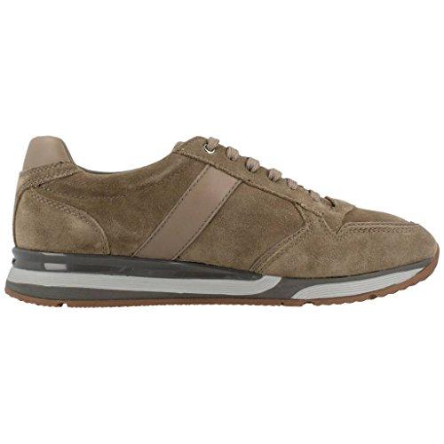 Geox U DUBLIN - Zapatos de cordones de cuero para hombre Oliva