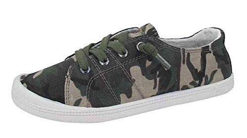 Jellypop Dallas Womens Slip On Sneakers Camouflage 6.5