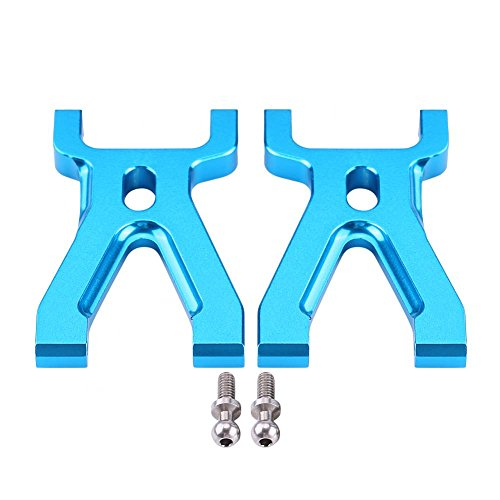 Dilwe 2Pcs CNC Aluminium Alloy Front Upper Suspension Swing Arms Accessories For WLtoys RC -