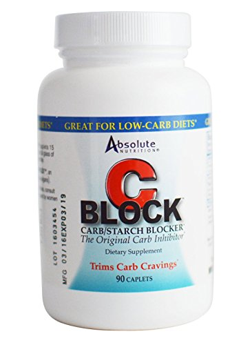 Absolute Nutrition CBlock Carb/Starch Blocker, 90 Caplets