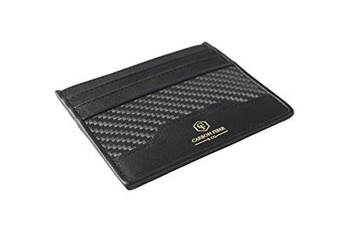Men's Fiber Co amp; and Carbon Wallet Fiber Slim Real Carbon by Leather wTPq1TzIx