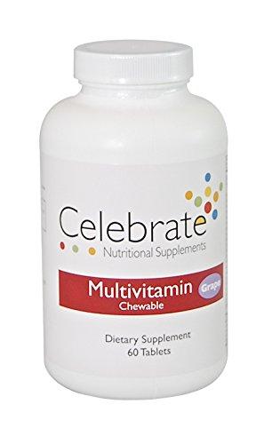 Celebrate Multivitamin Chewable – Grape – 60 Count
