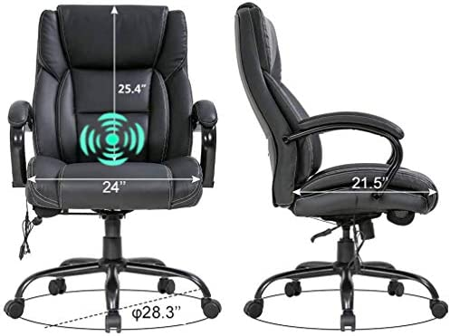 Big Tall Executive Office Chair PU Leather Ergonomic Desk Chair