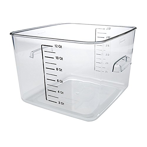 Rubbermaid Commercial Space Saving Food Storage Container, 12 Quart, Clear (FG631200CLR)