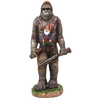 Funny Guy Mugs Garden Gnome Statue - Bigfoot and A Gnome - Indoor/Outdoor Garden Gnome Sculpture for Patio, Yard or Lawn : Garden & Outdoor