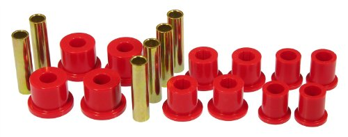 Prothane 6-1018 Red Rear Spring Eye and Shackle Bushing Kit (Rear Spring Eye)