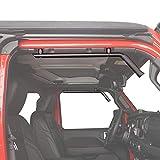 Hooke Road Solid Steel Front Grab Handles w/Black