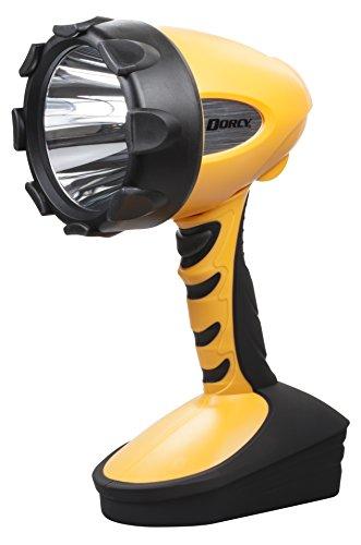 Dorcy 500-Lumen Water Resistant Swivel Head LED Spotlight, Yellow (41-4296)