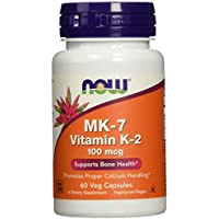 NOW MK-7 Vitamin K-2 100 mcg 60 Veg Capsules