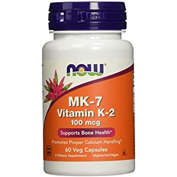 NOW MK-7 Vitamin K-2 100 mcg,60 Veg Capsules