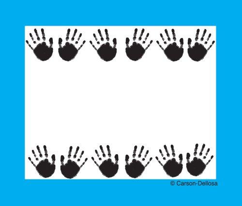 Carson Dellosa Handprints Name Tags (Self Adhesive Handprints Name Tags)