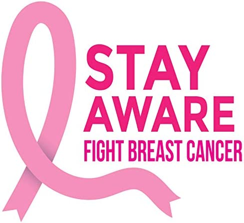 8.0 W x 7.4 H 4 All Times Stay Aware Fight Breast Cancer Automotive Car Decal for Cars Trucks Laptops