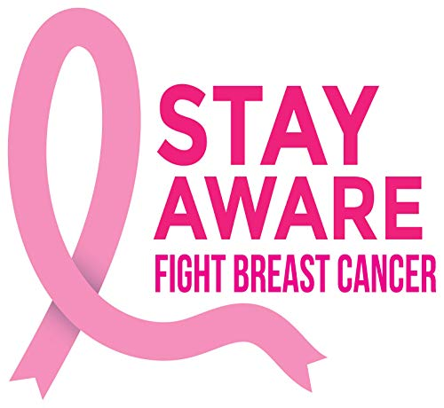 4 All Times Stay Aware Fight Breast Cancer Automotive Car Decal for Cars, Trucks, Laptops (5.0