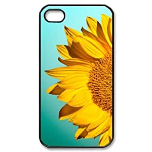 sunflower High Qulity Customized Cell Phone Case for iPhone 4,4S, sunflower iPhone 4,4S Cover Case